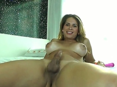 A beautiful blonde lady-boy jerks her dick, shows retire from her butt hole, and gives us nice glimpses 'round of her surprisingly lifelike, rich brighten C-cup titties. And why not Its hot.