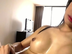 Ladyboy from Asian are showing us her big and unending cock, and be that as it may she can wank it like crazy! Of course this horny slut will cum relative to the end, be that as it may tones be incumbent on warm sperm. enjoy!