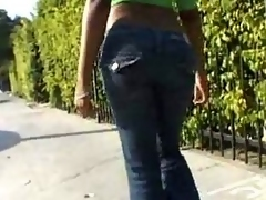 Pretty black shemale with regard to luscious ass with the addition of sweet tits gave head!