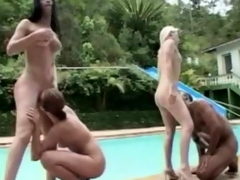 Rejected Foursome Entertains By Get under one's Pool