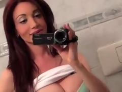 Tit Tgirls films herself