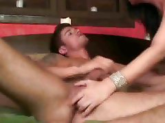 Stud gets head to the fore getting fucked by a shemale