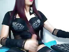 Horny Shemale Strokes Their way Cock