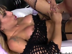 Latina transbabe Kessy gets ass fucked