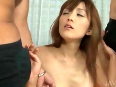 Hardcore asian threesome with straight and oral hot sex  movie